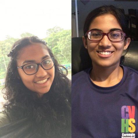 Order from left to right: Prisha Gandhi, Monica Balakrishnan