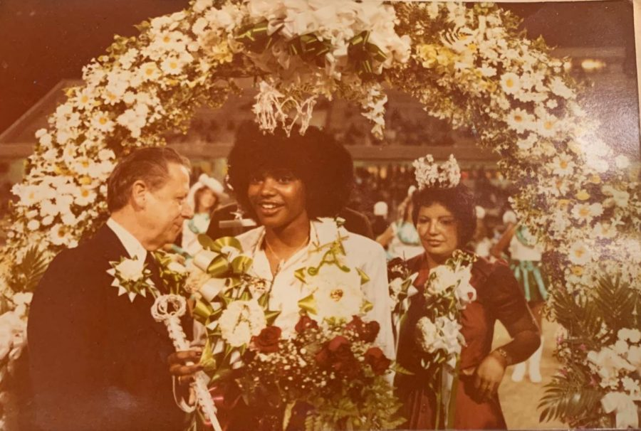 Judy Wells is crowned 1980 homecoming queen at Austin H.S.