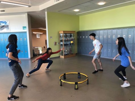 CVHS Students play spikeball during lunch.