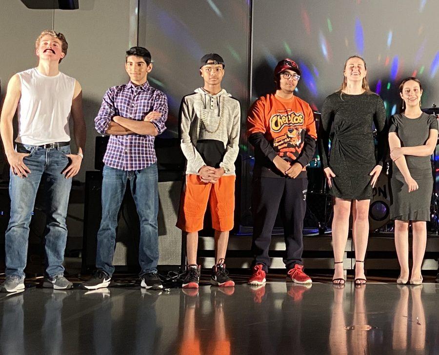(from left) Ammer Qaddumi 11, Charan Jagwani 11, Sterling Adams 10, Javier Moreno 10 Dylan Kipp 11, Naomi Canny 10