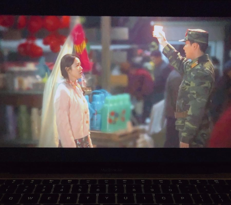 A scene from Crash Landing on You, the third highest-rated Korean drama in cable television.