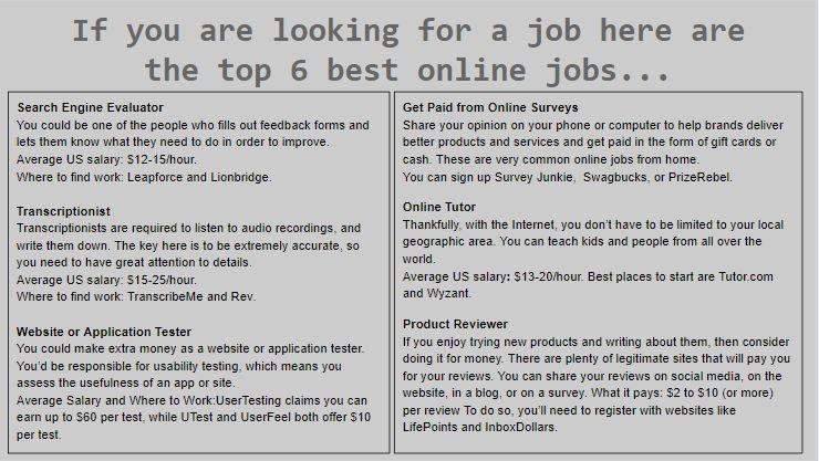 6 best jobs