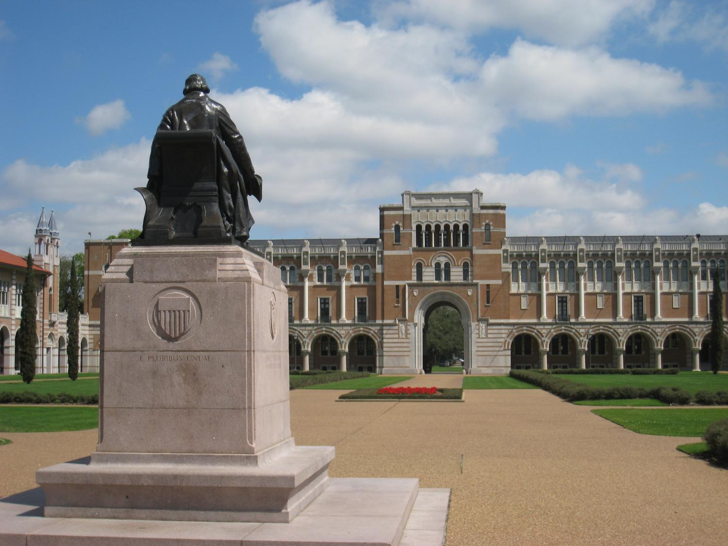 Rice University during the pandemic.
