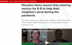 CVHS juniors Monica Balakrishnan and Madeline Hsu appear on KHOU News to share information on Limitless Minds, a non-profit chapter they started back in April to help tutor students virtually.