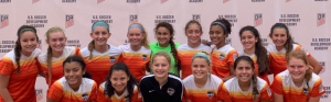 Junior Camille Marlin, in the center, plays midfielder for the competitive club Houston Dash Academy 04.
