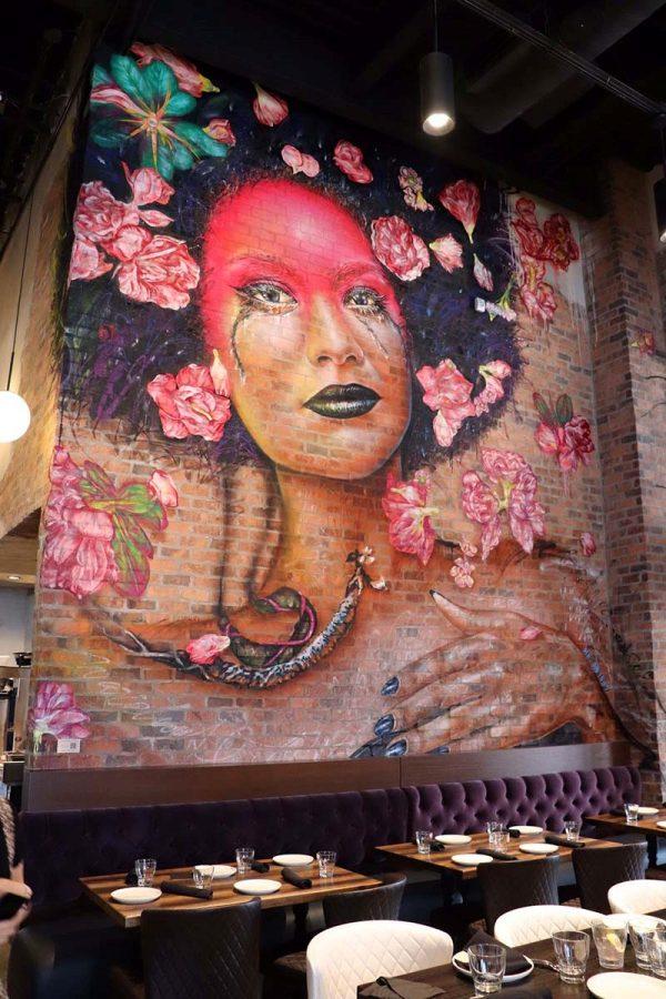 Murals by Mr. D inside Warehouse 72.