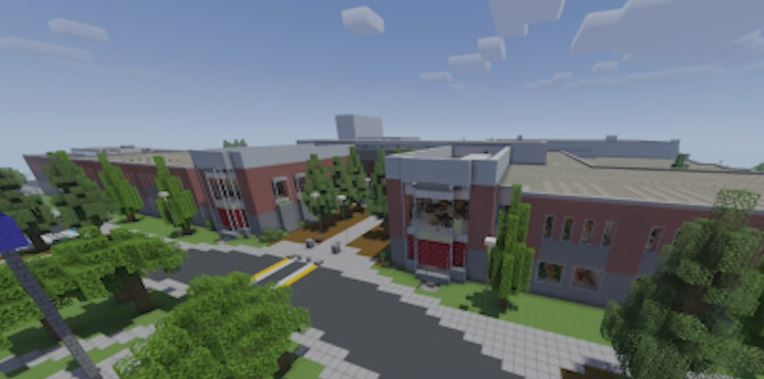 Westview Highschool 1:1 Replica of their school in Minecraft