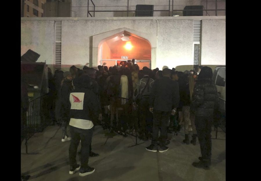 Nearly 200 clubgoers stood in line outside Club Spire this weekend Jan 19 in Houston.