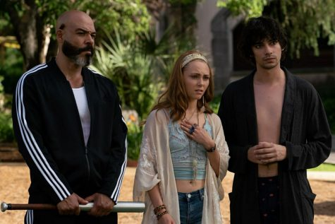 Some of Adam Petrazelli's hallucinations have a standing role throughout the movie.