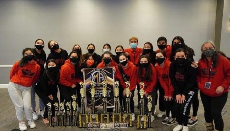 The Carnegie Dance Team after Regional Dance Competition.
