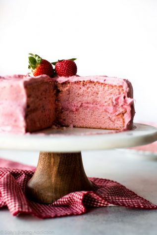 Try this fluffy strawberry cake with a recipe from Sally's Baking Addiction.