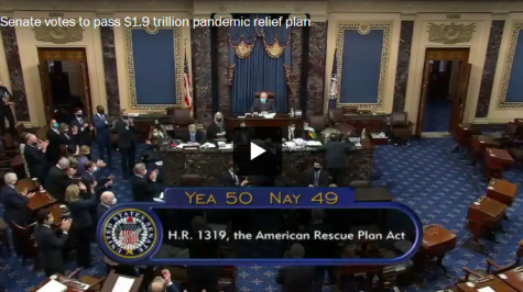 On March 6 the Senate voted 50 to 49 to pass the American Rescue Plan.