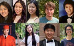 Bellaire H.S. Class of 2021's nine valedictorians: Alkiviades Boukas, Daniel Chen, Evie Tsen-Ying Kao, Angela Ling, Miles Mackenzie, Wenson Tsiah-Hao Tang, Christopher Zhou, Annie Zhu, and Shirley Zhu.