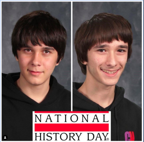 The Rauch Twins, Ronnie (left) and David (right), have won first place at the Regional National History Day Competition