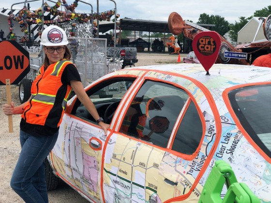 Jamie Ford at the Art Car Parade