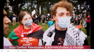 Palestinian students CVHS junior Lamar Qaddami and senior Ammer Qaddami speak out at a recent protest for Palestinian equal rights.