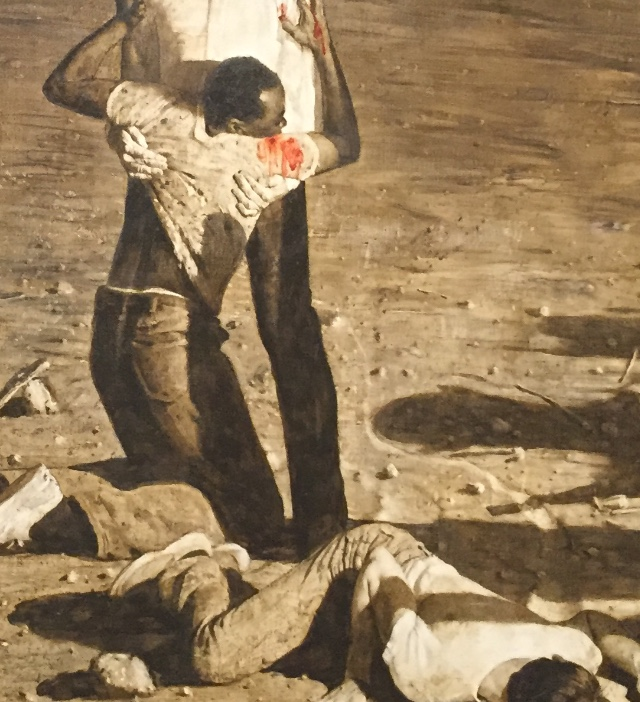 A painting by American artist Norman Rockwell, named Murder in Mississippi, depicting the Ku Klux Klans murder of three civil rights activists. Teachers have become worried about discussing topics such as the Civil Rights Movement and the K.K.K. after HB 3979 was passed, banning any part of a class that could make the student feel guilty of their race or sex.