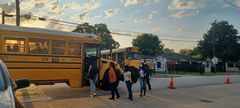 On September 1 another bus had to pick up students from the High School for Law and Justice when their bus failed to show up.