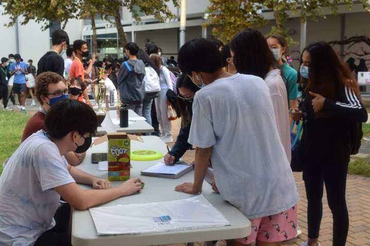 Students were able to sign up for clubs at the CVHS club fair September 1.