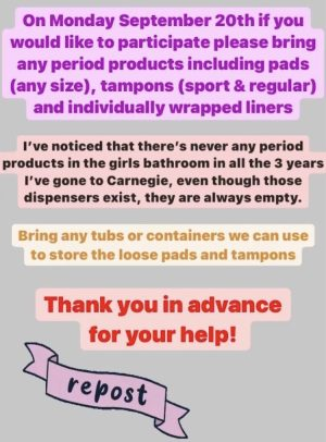 Butalis Instragram story post uploaded on Sept. 18th